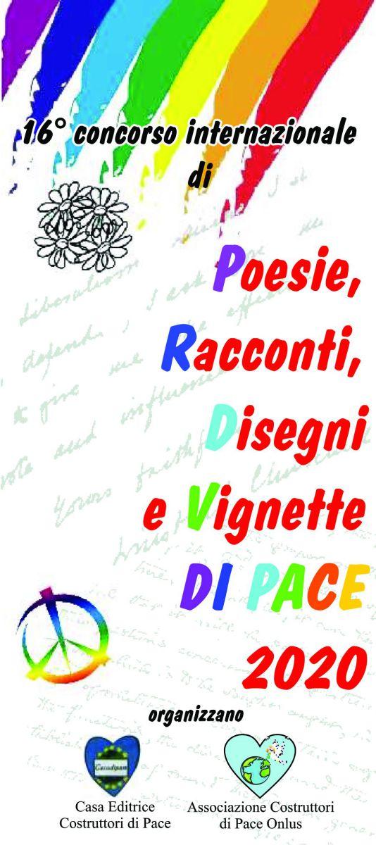 16 concorso internazionale di poesie racconti disegni e vignette di pace 2020-eventi pace-acodipa onlus-cecodipam-casaeditricecostruttoridipace-maria terranova