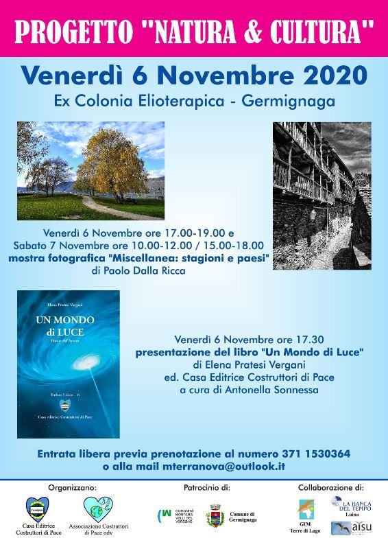 un mondo di luce-Presentazione Libro-Elena Pratesi Vergani-progetto natura e cultura-evento Germignaga-casa editrice costruttori di pace-costruttori di pace-